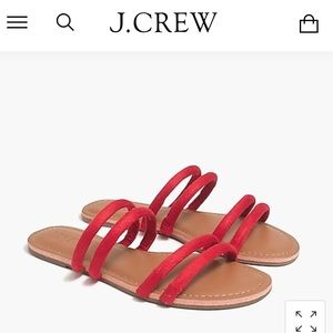 NWT J Crew red sandals